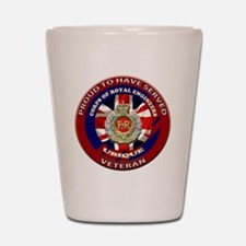 proud to be a royal engineer veteran Shot Glass