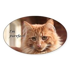 Cat - I'm purrfect! Decal