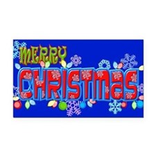 Merry Christmas Loudly Rectangle Car Magnet