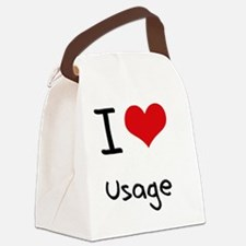 I love Usage Canvas Lunch Bag