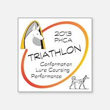 """Triathlon Square Sticker 3"""" x 3"""""""
