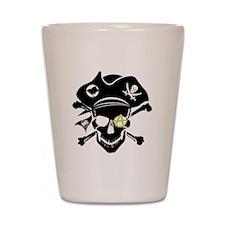 Black Captain Shot Glass
