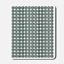 qwerty flip flops Mousepad