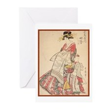 Japanese print  Greeting Cards (Pk of 10)
