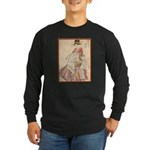 Japanese print Long Sleeve Dark T-Shirt