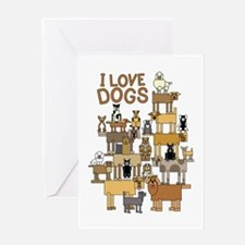 I LOVE DOGS Greeting Card