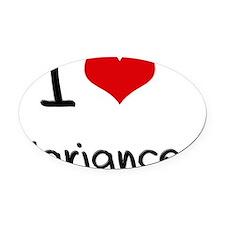 I love Variance Oval Car Magnet