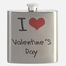 I love Valentine'S Day Flask