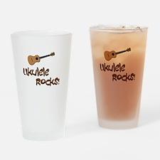 ukulele uke funny ukele design Drinking Glass