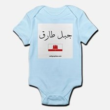 Gibraltar Flag Arabic Infant Bodysuit