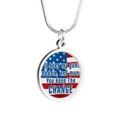 KEEP THE CHANGE Silver Round Necklace