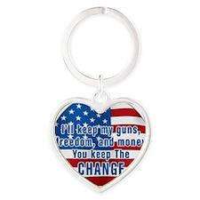 KEEP THE CHANGE Heart Keychain