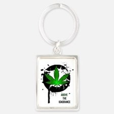 Above the ignorance Portrait Keychain