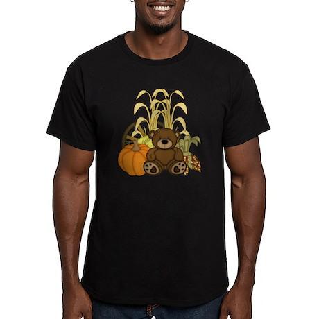 Autumn design with Pum Men's Fitted T-Shirt (dark)