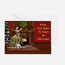 Christmas Card, Vintage Home, Holida Greeting Card