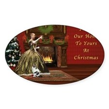 Christmas Card, Vintage Home, Holid Decal