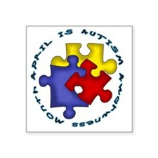 "AprilisAutismMonth Square Sticker 3"" x 3"""