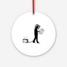 Anti-media Round Ornament