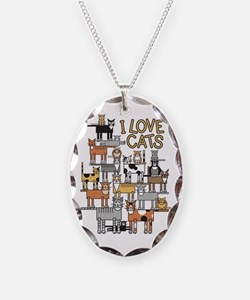 I LOVE CATS Necklace