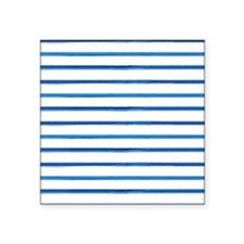 "brushstroke stripes - blue Square Sticker 3"" x 3"""