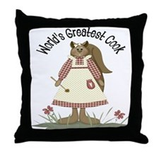 World's Greatest Cook Throw Pillow