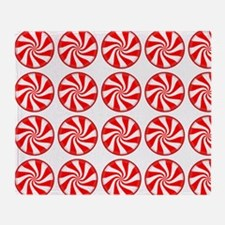 Peppermint Pattern Throw Blanket
