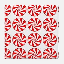Peppermint Pattern Tile Coaster