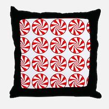 Peppermint Pattern Throw Pillow