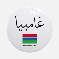 Gambia Flag Arabic Ornament (Round)