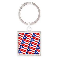 Puerto Rican Flag Boricua Pahtay 2 Square Keychain