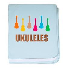 ukulele ukuleles uke ukes baby blanket