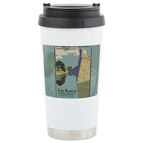 St. Augustine Spanish F Stainless Steel Travel Mug