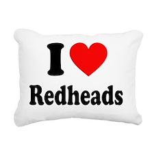 I Heart Readheads Rectangular Canvas Pillow