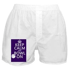 Keep Calm and Bowl On Boxer Shorts