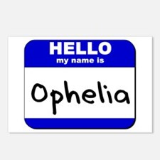 hello my name is ophelia  Postcards (Package of 8)