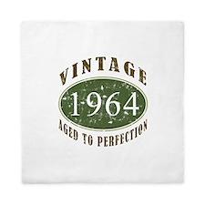 Vintage 1964 Birthday (Green) Queen Duvet