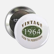 """Vintage 1964 Birthday (Green) 2.25"""" Button"""