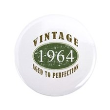 "Vintage 1964 Birthday (Green) 3.5"" Button"