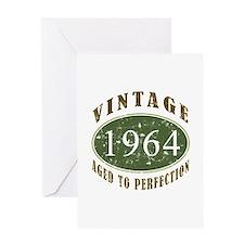 Vintage 1964 Birthday (Green) Greeting Card