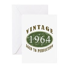Vintage 1964 Birthday (Green) Greeting Cards (Pk o