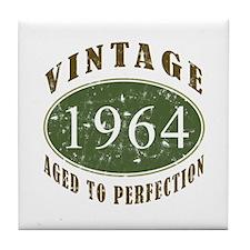 Vintage 1964 Birthday (Green) Tile Coaster