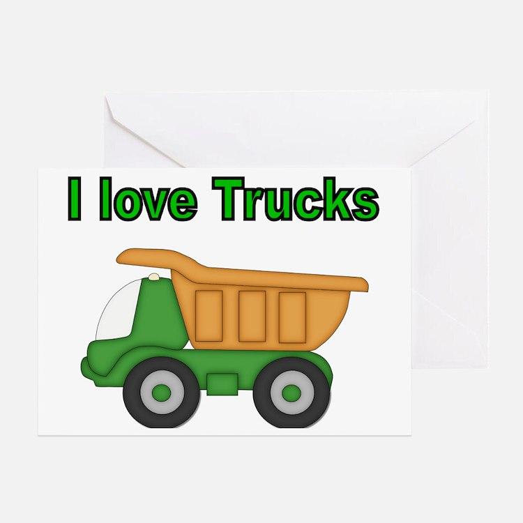 I love trucks Greeting Card
