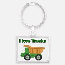 I love trucks Landscape Keychain