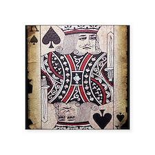"vintage play cards kings de Square Sticker 3"" x 3"""