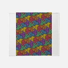 Tessellephants Throw Blanket