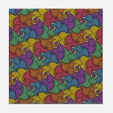 Tessellephants Tile Coaster