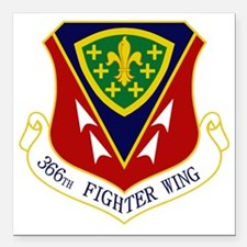 "366th FW Square Car Magnet 3"" x 3"""