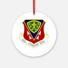 366th FW Round Ornament