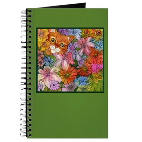 Cat Among the Flowers Journal