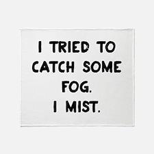 Weather Pun Throw Blanket